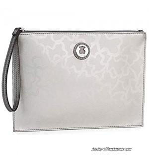 TOUS Kaos Shiny Silver-colored Clutch Bag