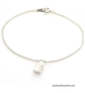 """LAONATO Lock Bracelet .925 Sterling Silver 6.5"""""""